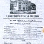 "Poughkeepsie Female Academy ""brochure"" c.1853"